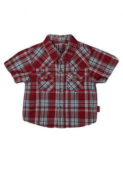 Chemise à carreaux manches courtes
