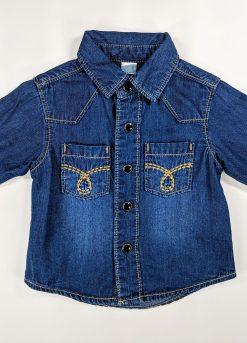 Chemise en jean avec petites poches devant