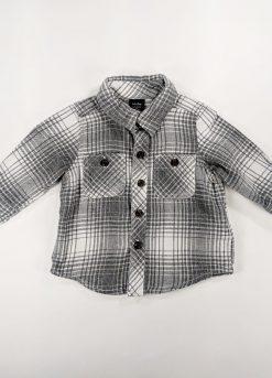 Chemise à carreaux manches longues coton épais