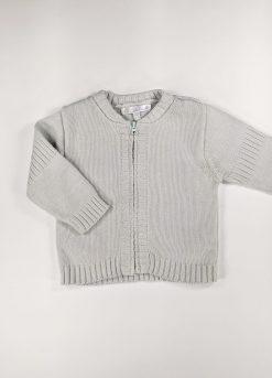 Gilet en tricot avec Zipper manches longues