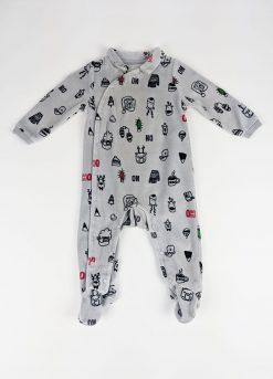 Pyjama 1 pièce style velour