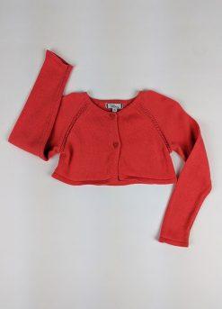 Gilet court manches longues en tricot