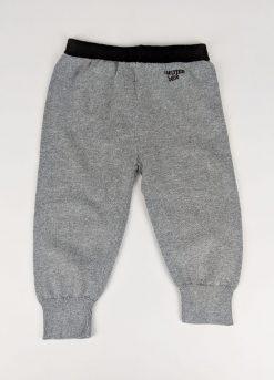 Pantalon gris avec dessin léopard au dos