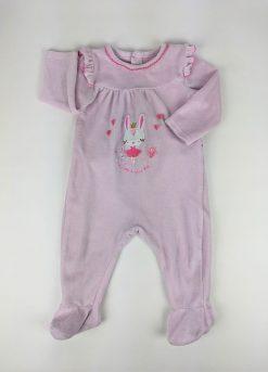 Pyjama en velour rose