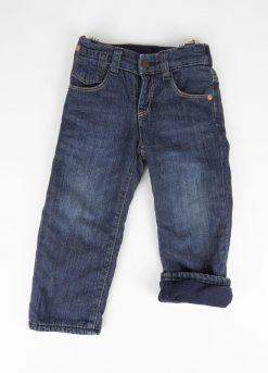 Pantalon jeans doublé polaire