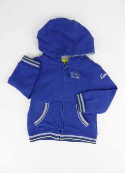 Gilet à zip et capuche bleu