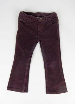 Pantalon en velours violet