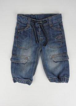 Pantalon  jean poches sur le cote facon treilli