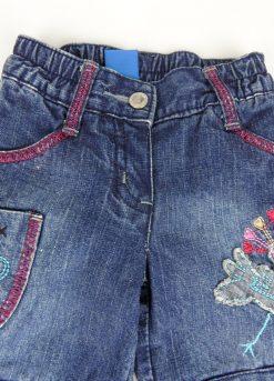 Pantalon jean doublé et décoré de broderies image 2