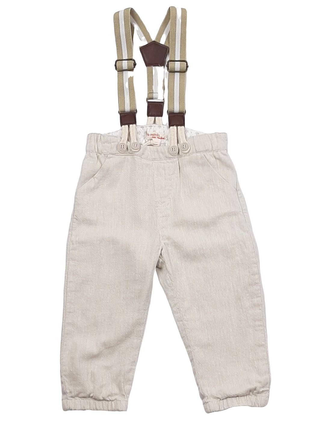 Pantalon fin avec bretelles amovibles 1