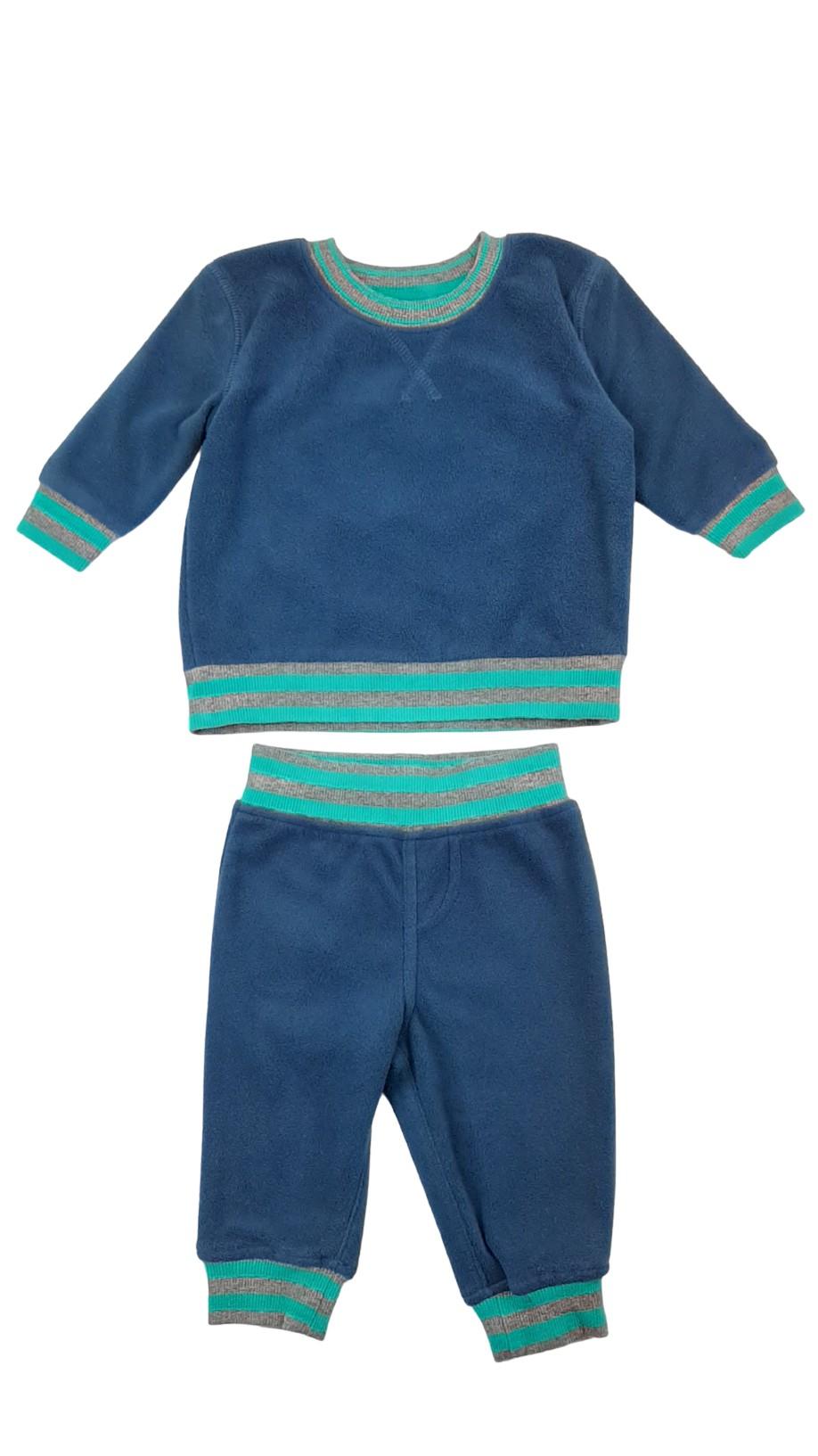 Ensemble chaud : pull et pantalon en coton ouaté 1