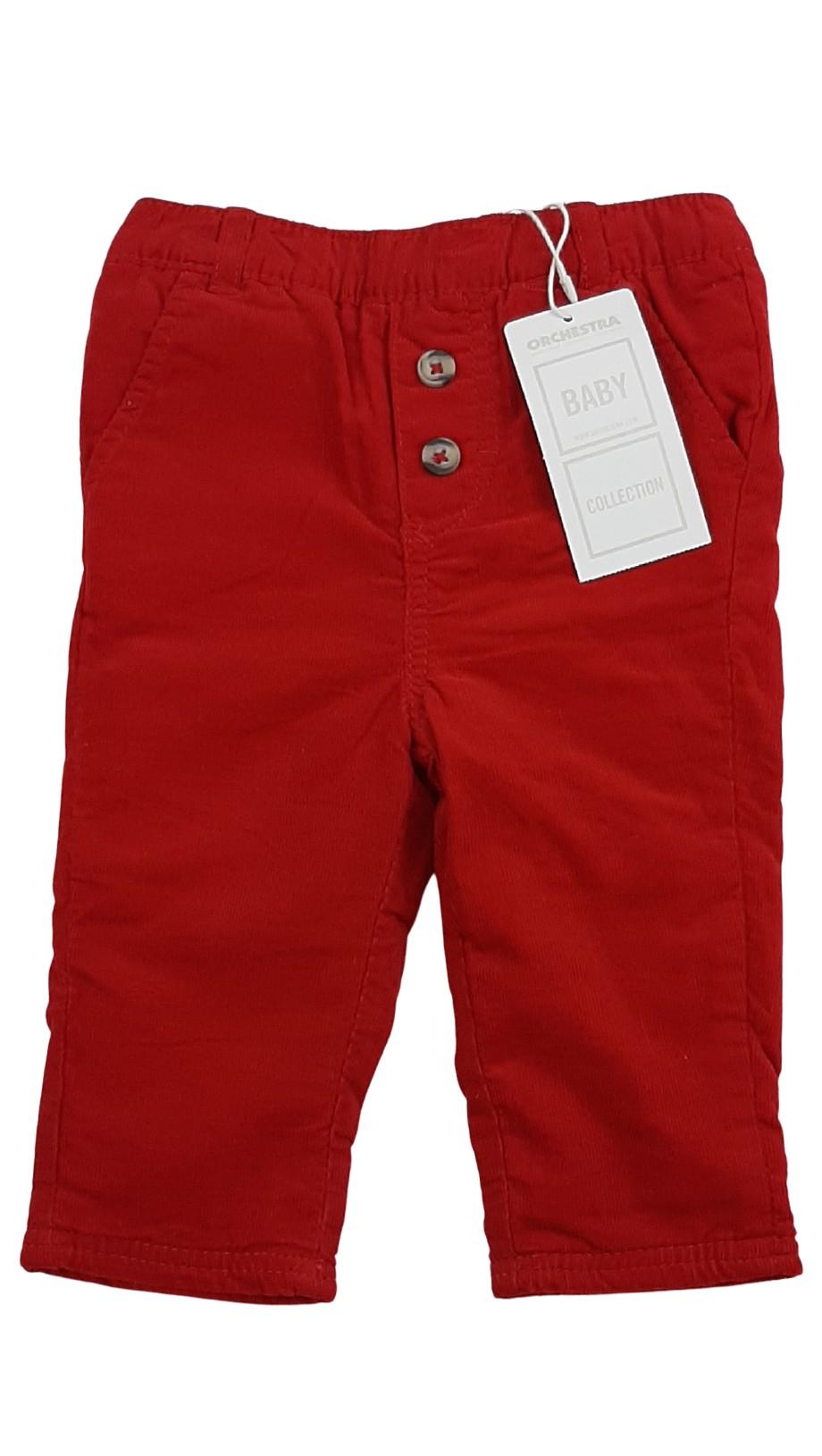 Pantalon chaud en velours côtelé