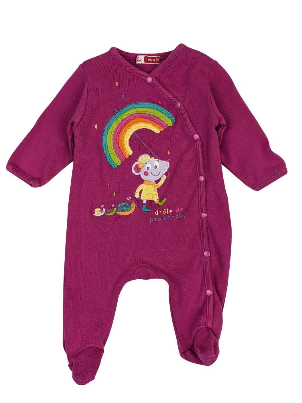 Pyjama en coton arc-en-ciel 1